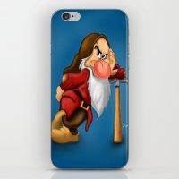 grumpy iPhone & iPod Skins featuring Grumpy by Ricky_Disneyart