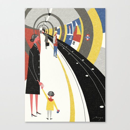 Tube, London Canvas Print