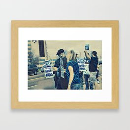 Honk If You Support Workers Framed Art Print