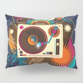 Goodtime Party Music Retro Rainbow Turntable Graphic Pillow Sham