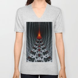 Fractal Art by Sven Fauth - Path to hell Unisex V-Neck
