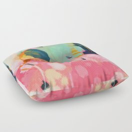 spring moon earth garden Floor Pillow