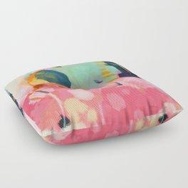 spring moon earth garden Floor Pillow