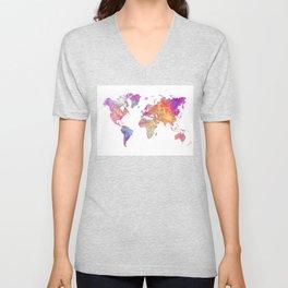 Map of the world #map #world Unisex V-Neck