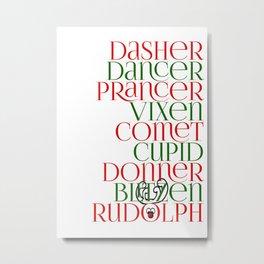 9 Reindeer Metal Print