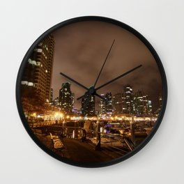 Coal Harbour Vancouver New Years Eve 2017 Wall Clock