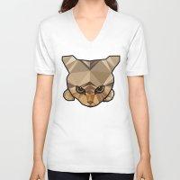 kitten V-neck T-shirts featuring Kitten  by Angel Decuir