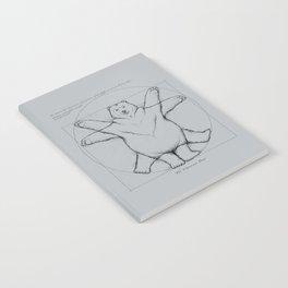 Vitruvian Bear Grey Notebook