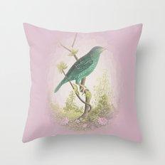 Songbird {dusky lilac} Throw Pillow