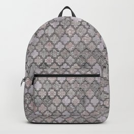Blush And Grey Moroccan Tiles  Backpack