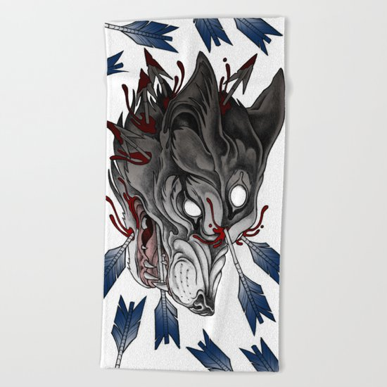 Big bad werewolf Beach Towel