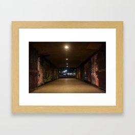 Graffiti Passage Framed Art Print