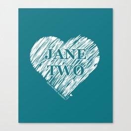 Heart Jane Two Canvas Print