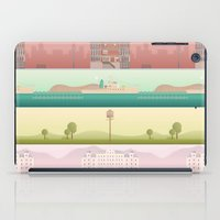 wes anderson iPad Cases featuring A Wes Anderson Collection by George Townley