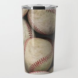 Many Baseballs - Background pattern Sports Illustration Travel Mug