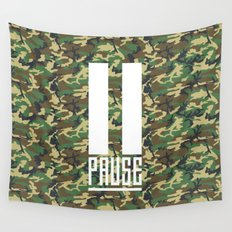 PAUSE – Camo Wall Tapestry