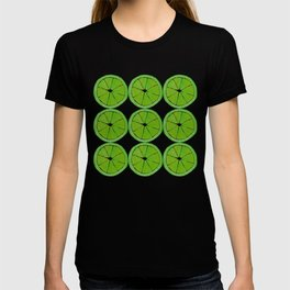 Pattern of Limes in Watercolor T-shirt