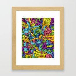 Organic Fruit Loop Explosion Framed Art Print
