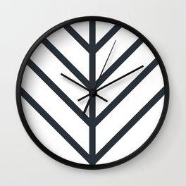 Leaf White Wall Clock
