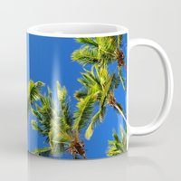 coconut wishes Mugs featuring Coconut Peaks by Tom Lee
