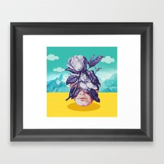 hidden face Framed Art Print