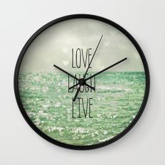 Love Laugh Live Wall Clock