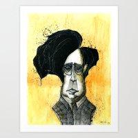 tim burton Art Prints featuring Tim Burton by JonasHviid