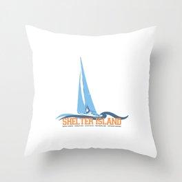 Shelter Island - Long Island. Throw Pillow