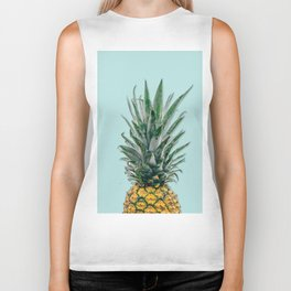 blue pineapple Biker Tank