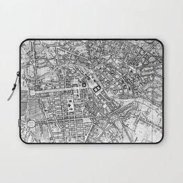 Vintage Map of Berlin (1846) BW Laptop Sleeve
