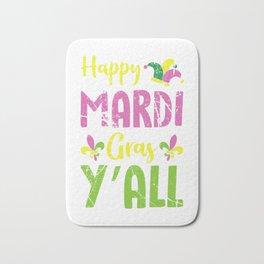 Mardi Gras Y'All Bath Mat