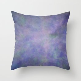 Abstract Soft Watercolor Gradient Ombre Blend 3 Purple Blue and Green Throw Pillow