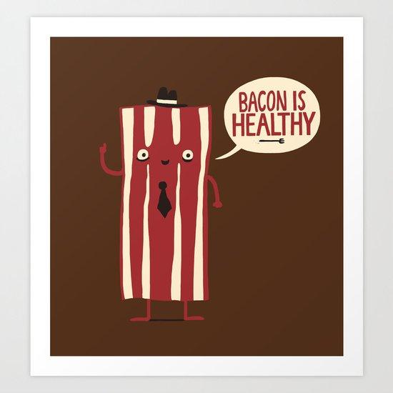 Bacon Man Art Print