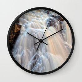 Chutes du Diable Waterfall Wall Clock