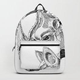 Rhino engraving Backpack