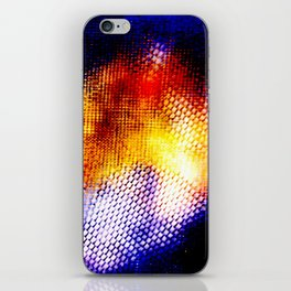 Blue Orange Edit iPhone Skin
