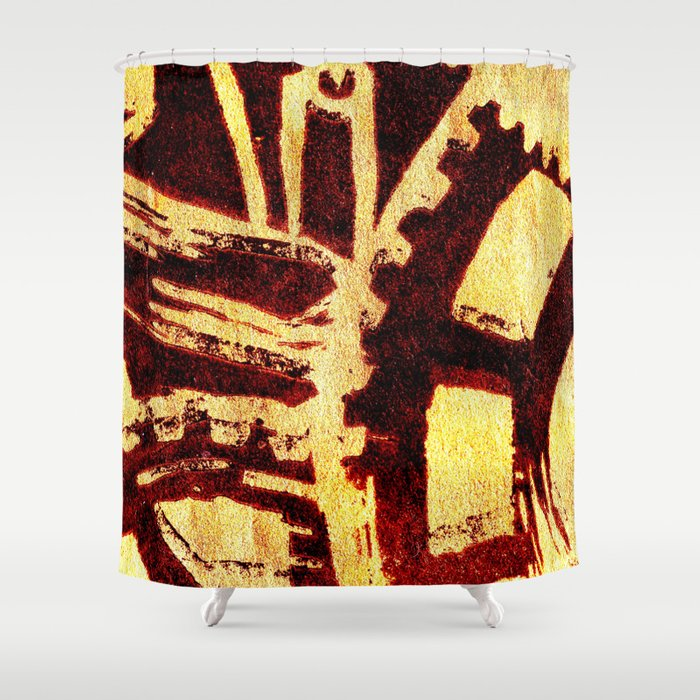 Industrious hell  Shower Curtain
