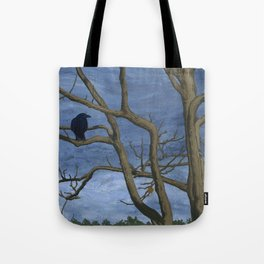 Crow Tree Tote Bag
