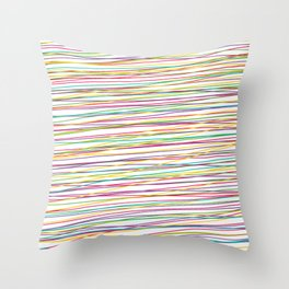 Colorful Abstract strips grid Throw Pillow