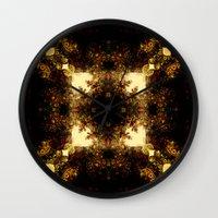 pagan Wall Clocks featuring Pagan  sun  by DIVIDUS