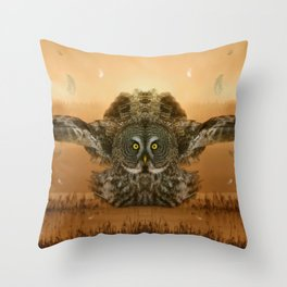 The greatest great gray of them all Throw Pillow
