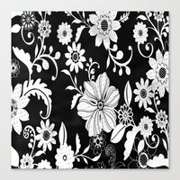 floral pattern Canvas Prints featuring Floral pattern by Laake-Photos