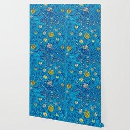 Modern painted art piece Wallpaper