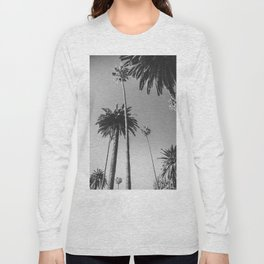 Palm Trees (Black and White) Long Sleeve T-shirt