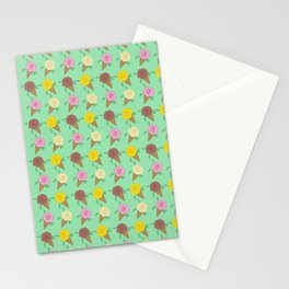 Roses Are Neapolitan Ice Cream Stationery Cards