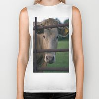 cow Biker Tanks featuring Cow. by wil-ko