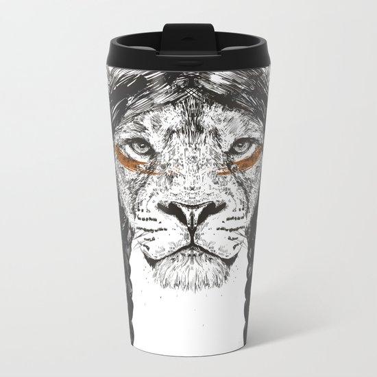 Warrior lion Metal Travel Mug