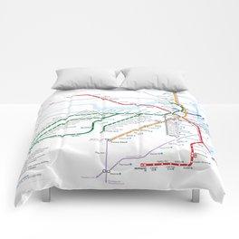 Boston Rapid Transit Map Comforters