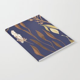 Fall Foliage on Navy Notebook