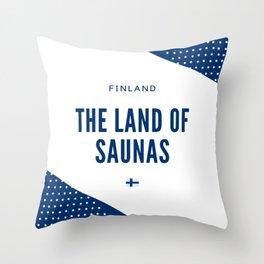 Finland the Land of Saunas Throw Pillow